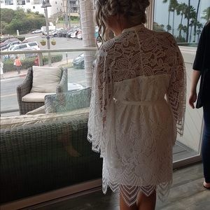 Other - Boho Custom Scalloped Lace Bridal Robe